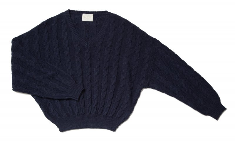 GYF TOKYO - THE DOLMAN SLEEVE CABLE KNIT (NAVY)