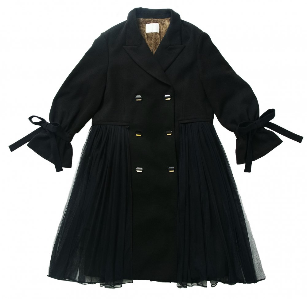 THE SIDE TULLE LONG COAT