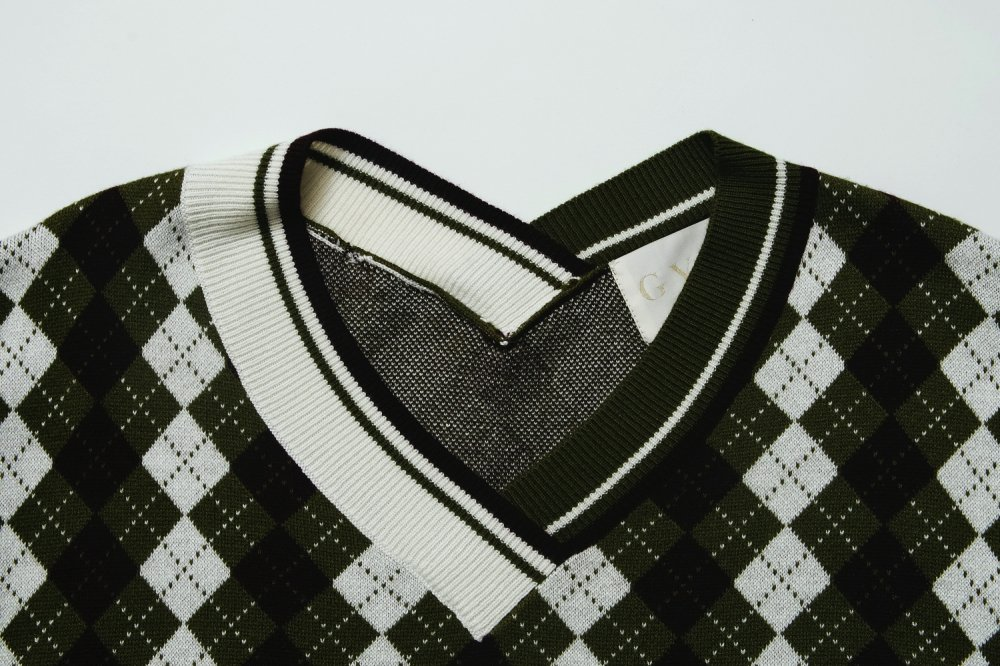 THE SHIRT DOCKING ARGYLE KNIT