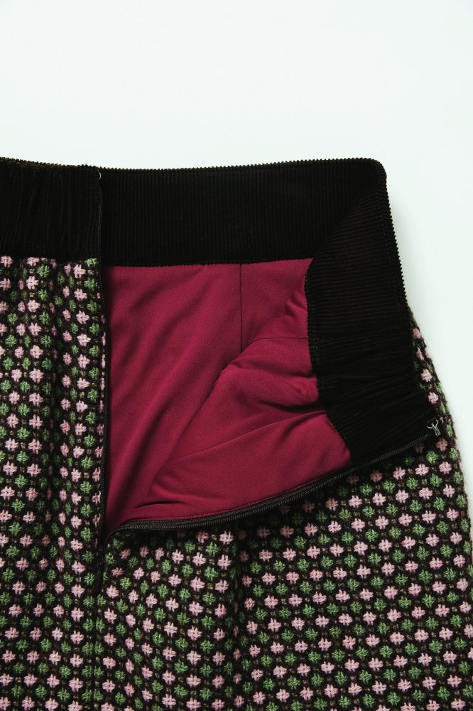 THE FUR POCKET TWEED MINI SKIRT (PINK)