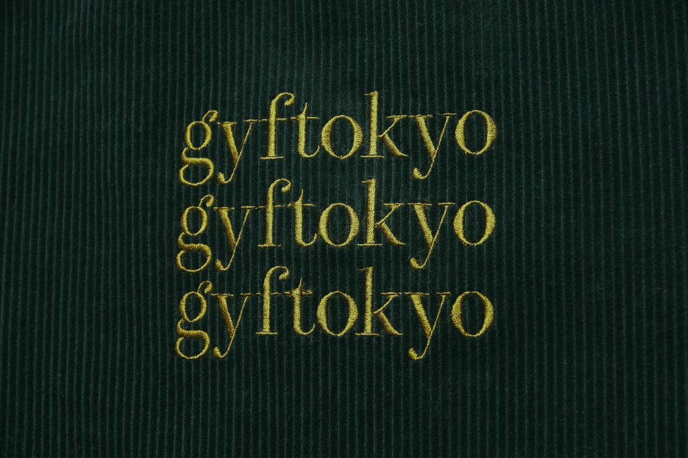 THE GYF LOGO CORDUROY TOPS (GREEN BLUE)<img class='new_mark_img2' src='https://img.shop-pro.jp/img/new/icons21.gif' style='border:none;display:inline;margin:0px;padding:0px;width:auto;' />
