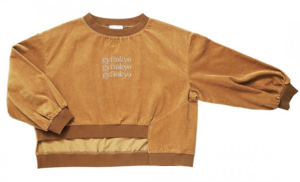 THE GYF LOGO CORDUROY TOPS (CAMEL)