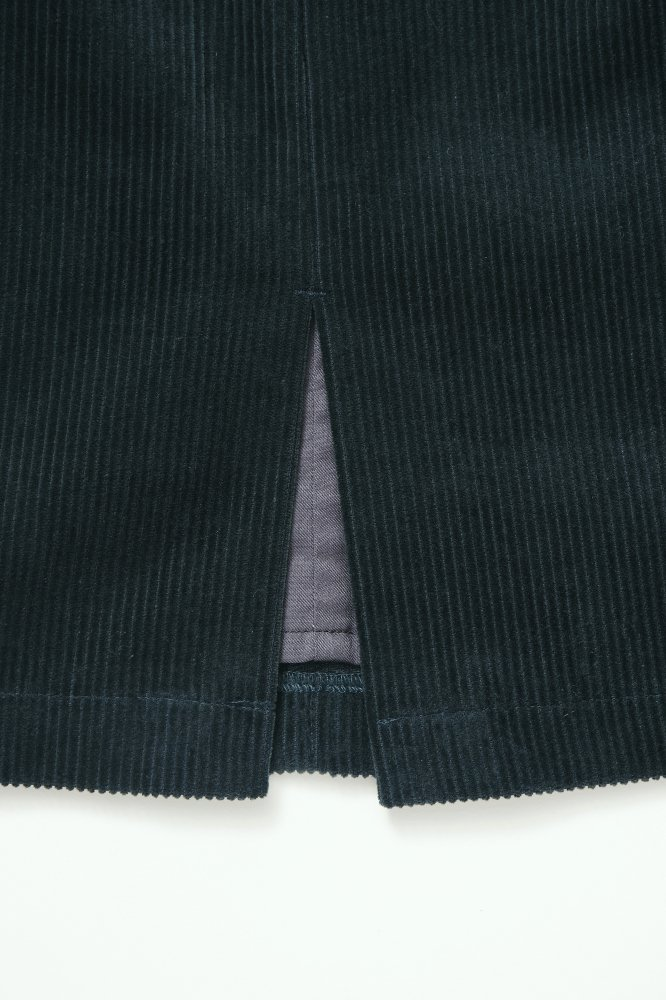 THE CORDUROY PENCIL SKIRT (GREEN BLUE)