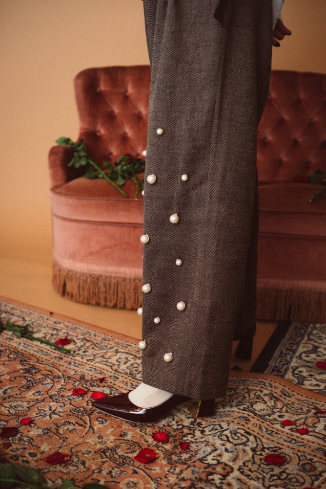 THE PEARL DECORATION PANTS
