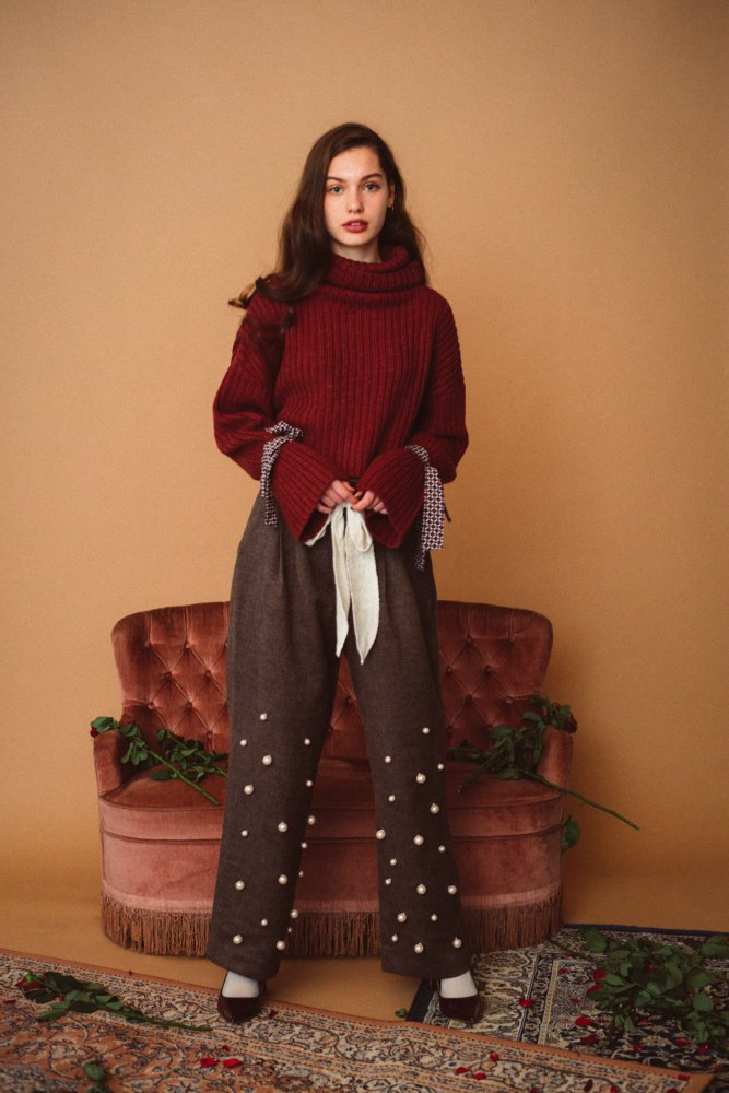 THE PEARL DECORATION PANTS<img class='new_mark_img2' src='https://img.shop-pro.jp/img/new/icons21.gif' style='border:none;display:inline;margin:0px;padding:0px;width:auto;' />