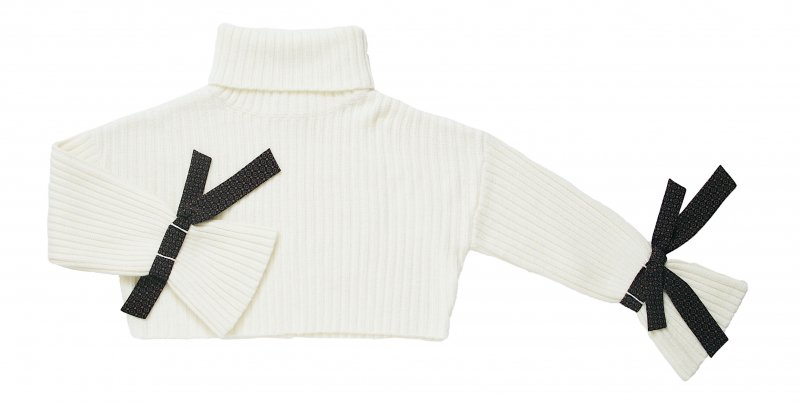 GYF TOKYO - THE VINTAGE SCARF ACCENT RIB KNIT (OFF WHITE)