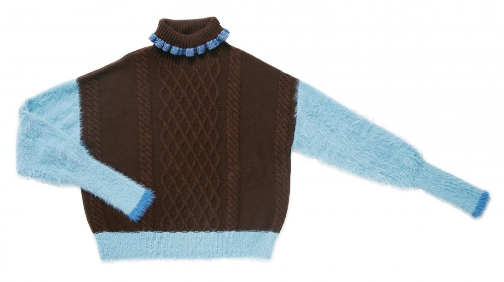 THE SHAGGY DOCKING TURTLE NECK KNIT (SKY BLUE)