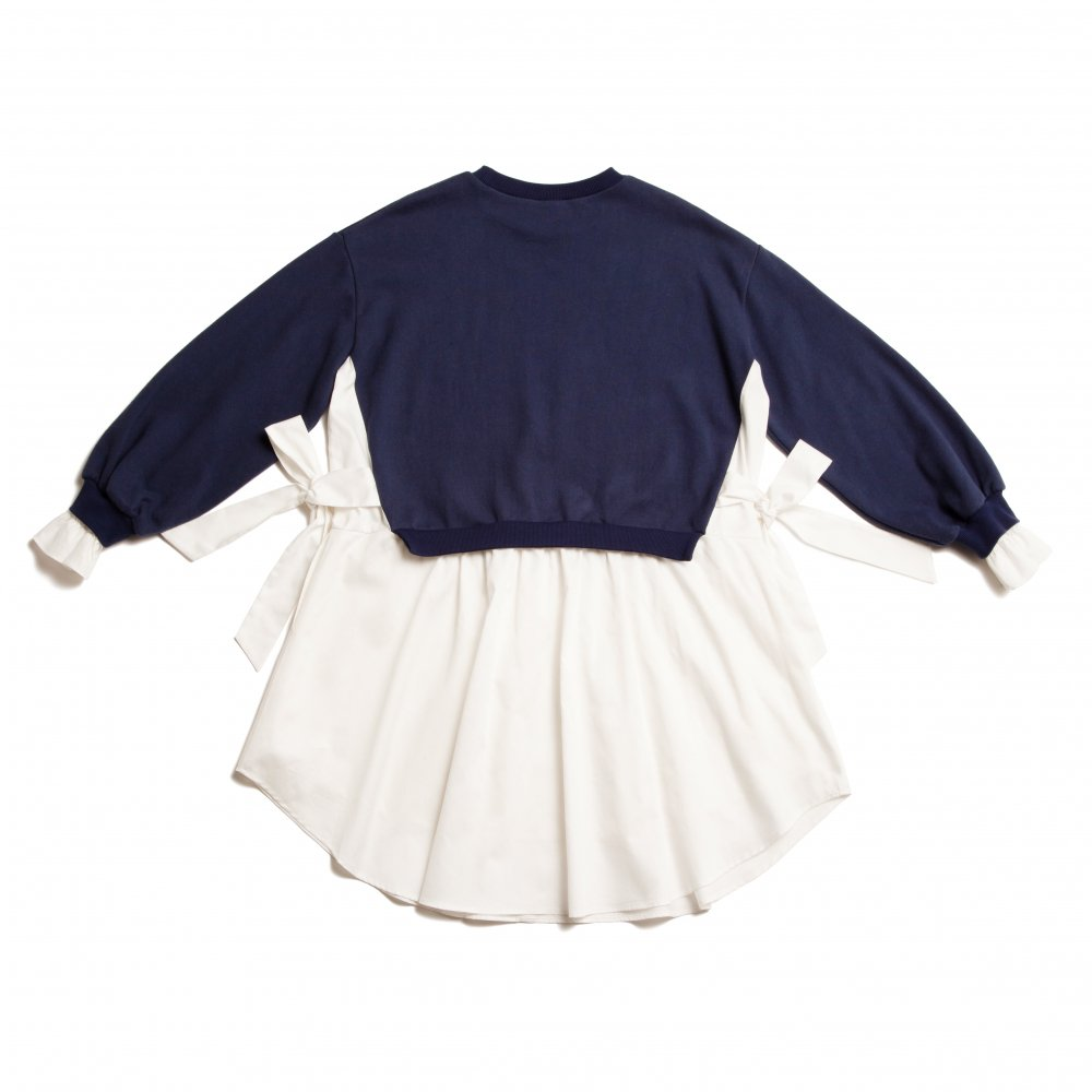 THE SHIRT DOCKING BIG SILHOUETTE SWEAT DRESS(NAVY)