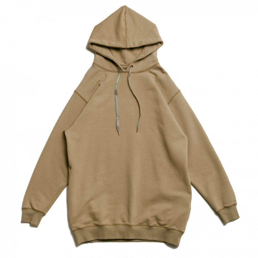 THE GYF ORIGINAL LOGO EMBROIDERY HOODIE (KHAKI)