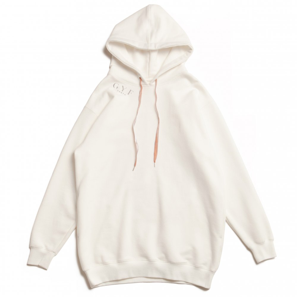 THE GYF ORIGINAL LOGO EMBROIDERY HOODIE (WHITE)