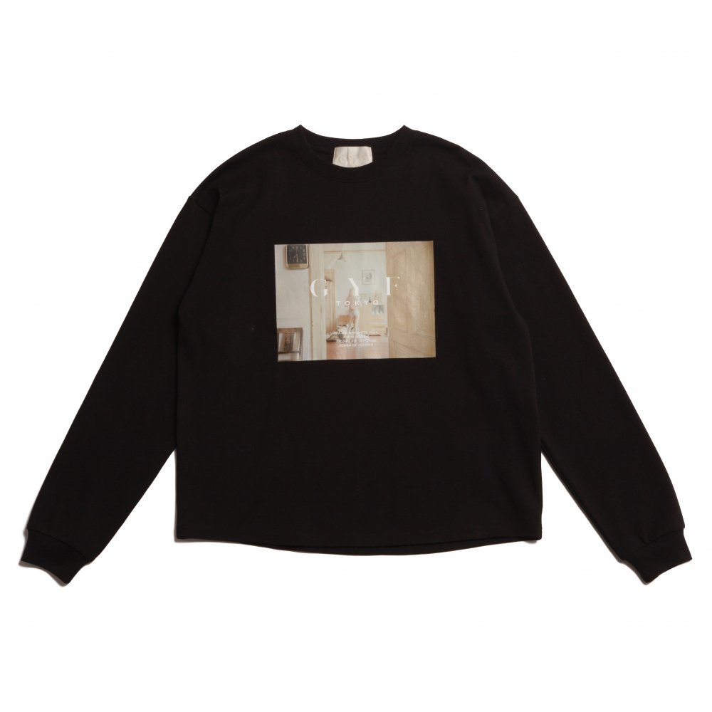 THE CONCEPT PHOTO PRINT LONG T-SHIRT (BLACK)