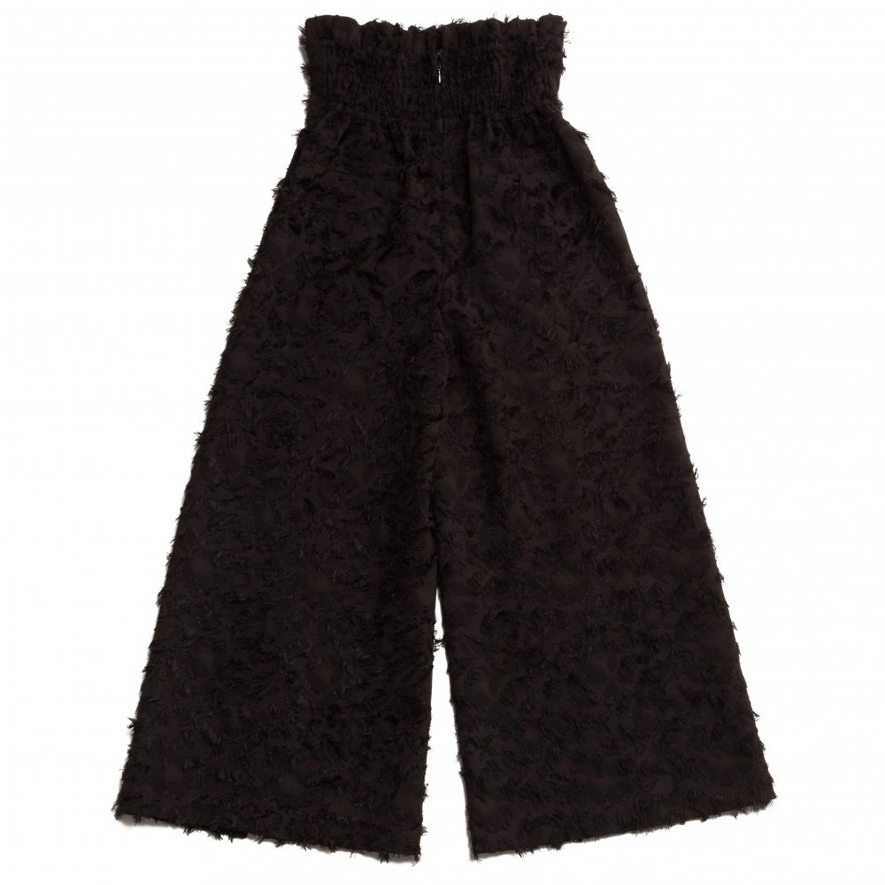 THE 3D JACQUARD HIGH WAIST PANTS (BLACK)