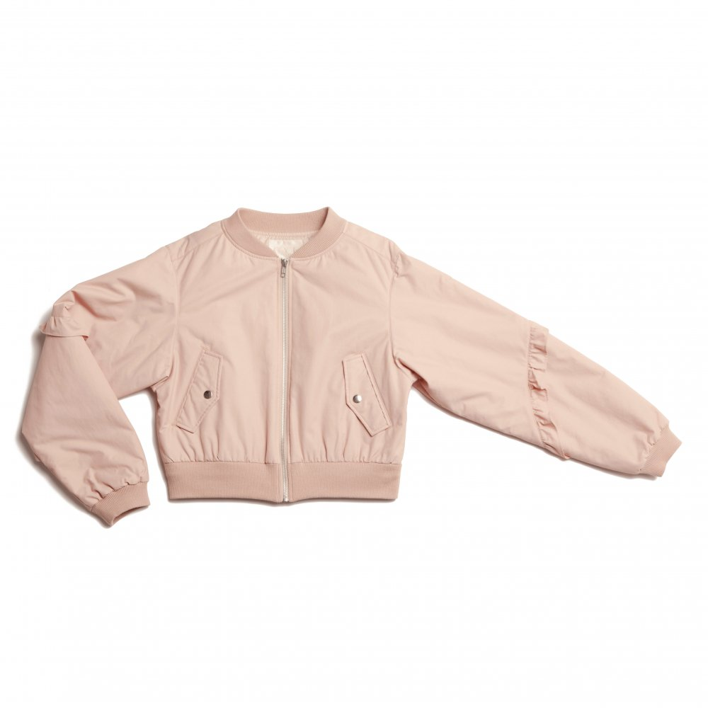 THE 2WAY TULLE PLEATED BLOUSON (PINK BEIGE)