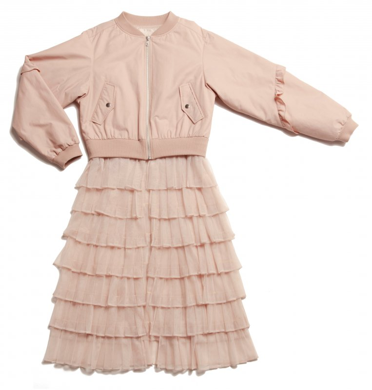 GYF TOKYO - THE 2WAY TULLE PLEATED BLOUSON (PINK BEIGE)