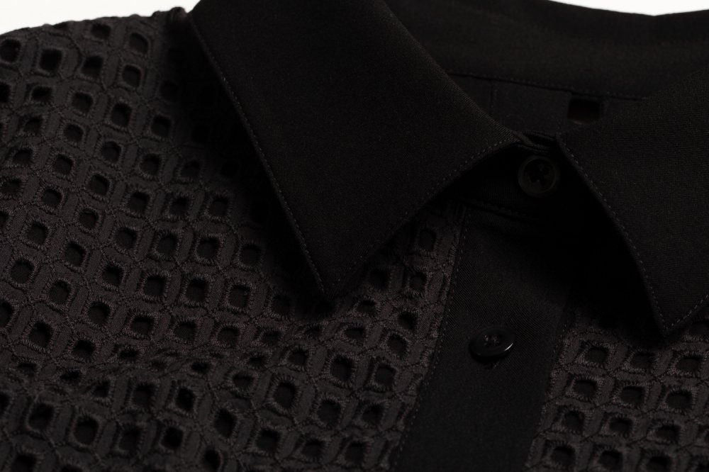 THE SQUARE SEE-THROUGH BACK RIBBON BLOUSE TOPS (BLACK)<img class='new_mark_img2' src='https://img.shop-pro.jp/img/new/icons21.gif' style='border:none;display:inline;margin:0px;padding:0px;width:auto;' />