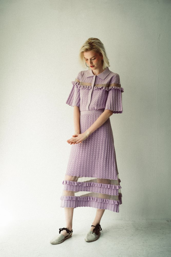 THE SEE-THROUGH SPRING KNIT TOPS (LAVENDER)