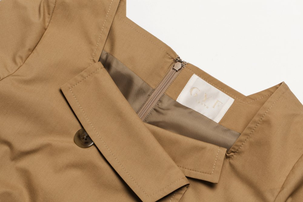 THE TRENCH ASYMMETRY DRESS(BEIGE)<img class='new_mark_img2' src='https://img.shop-pro.jp/img/new/icons21.gif' style='border:none;display:inline;margin:0px;padding:0px;width:auto;' />