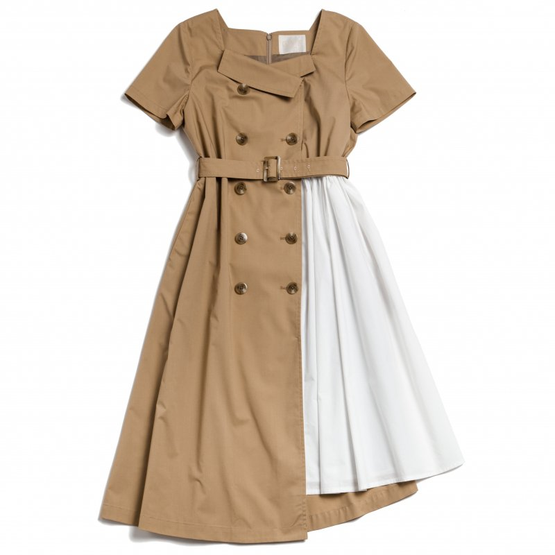GYF TOKYO - THE TRENCH ASYMMETRY DRESS(BEIGE)