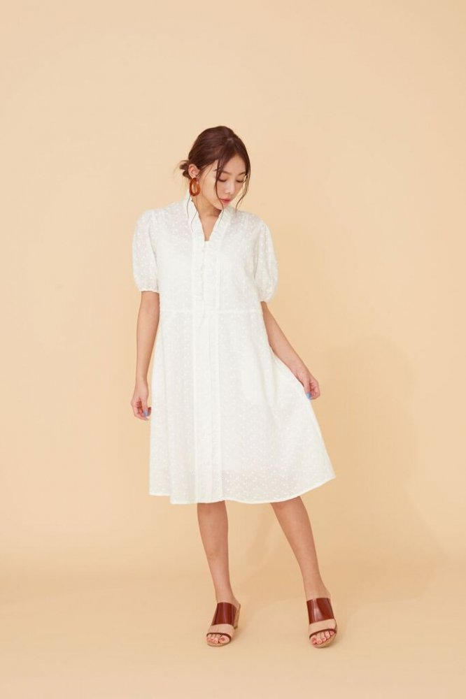 THE COTTON LACE DRESS(WHITE)
