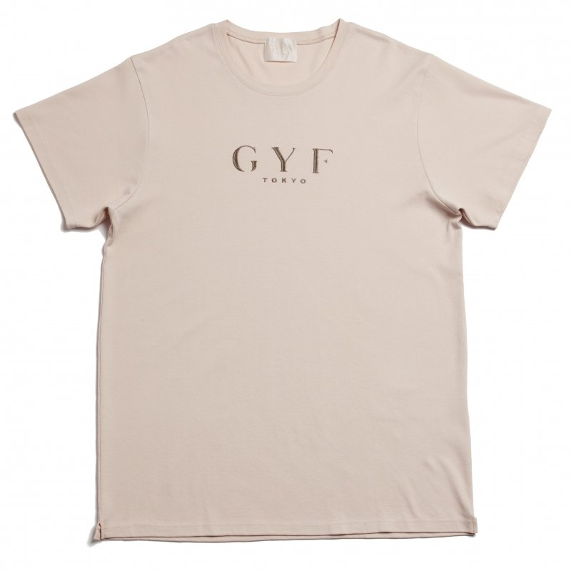 GYF TOKYO - THE GYF ORIGINAL LOGO EMBROIDERY SUPER BIG T-SHIRT(BEIGE)