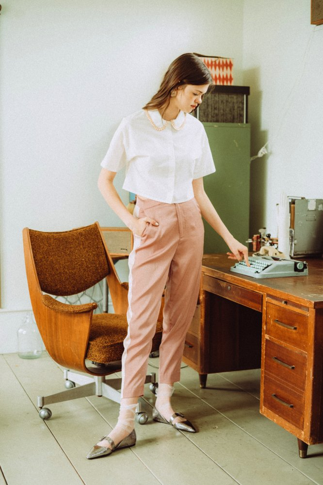 THE ALL SATIN SIDE LINE PANTS