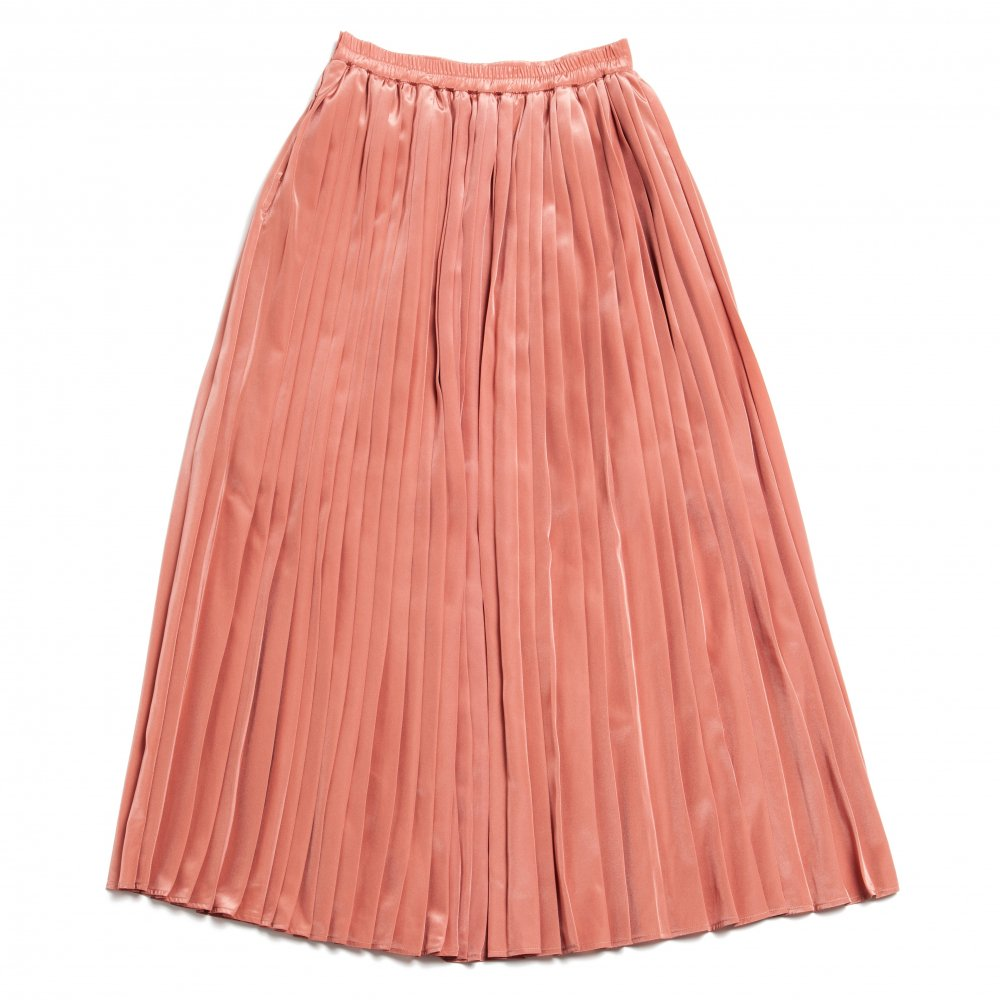 THE SEE-THROUGH PLEATED LONG SKIRT(PINK)