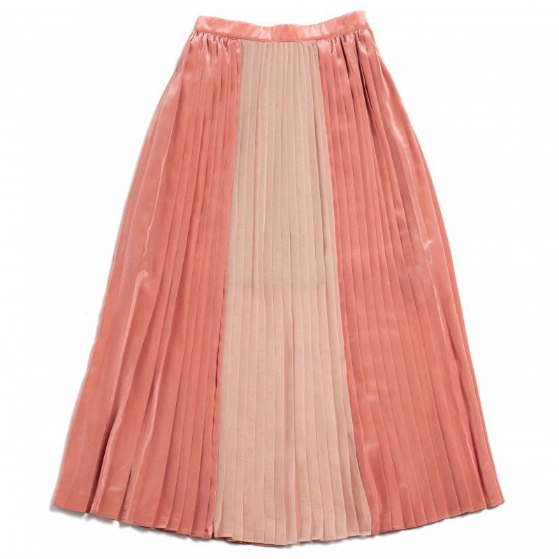 GYF TOKYO - THE SEE-THROUGH PLEATED LONG SKIRT(PINK)