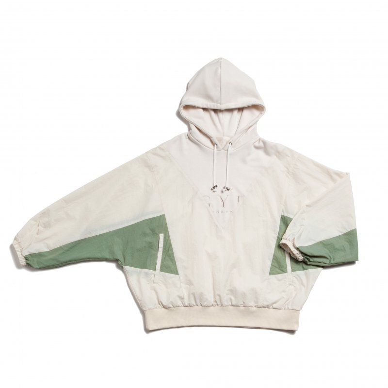 GYF TOKYO - THE GYF LOGO HOODED PULLOVER(WHITE)