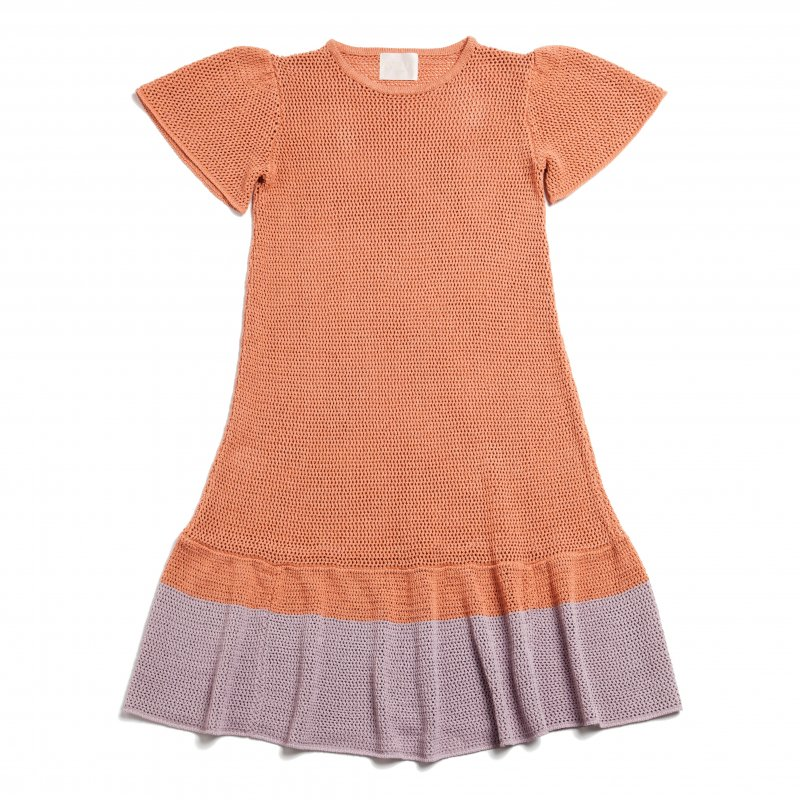 GYF TOKYO - THE SUMMER KNIT RELAX BI-COLOR DRESS(PINK)