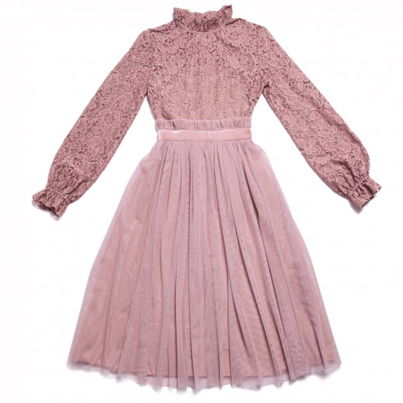 GYF TOKYO - THE BACK PEARL LACE DRESS (PINK)