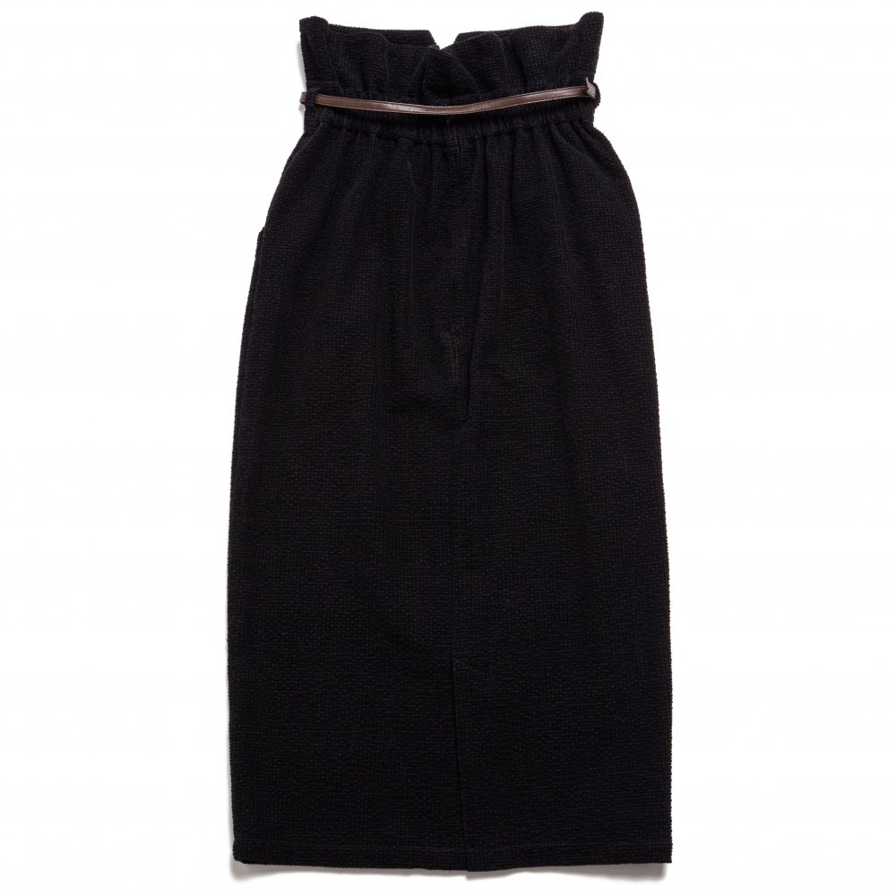 THE HIGH-WAISTED SKIRT WITH BELT (BLACK)