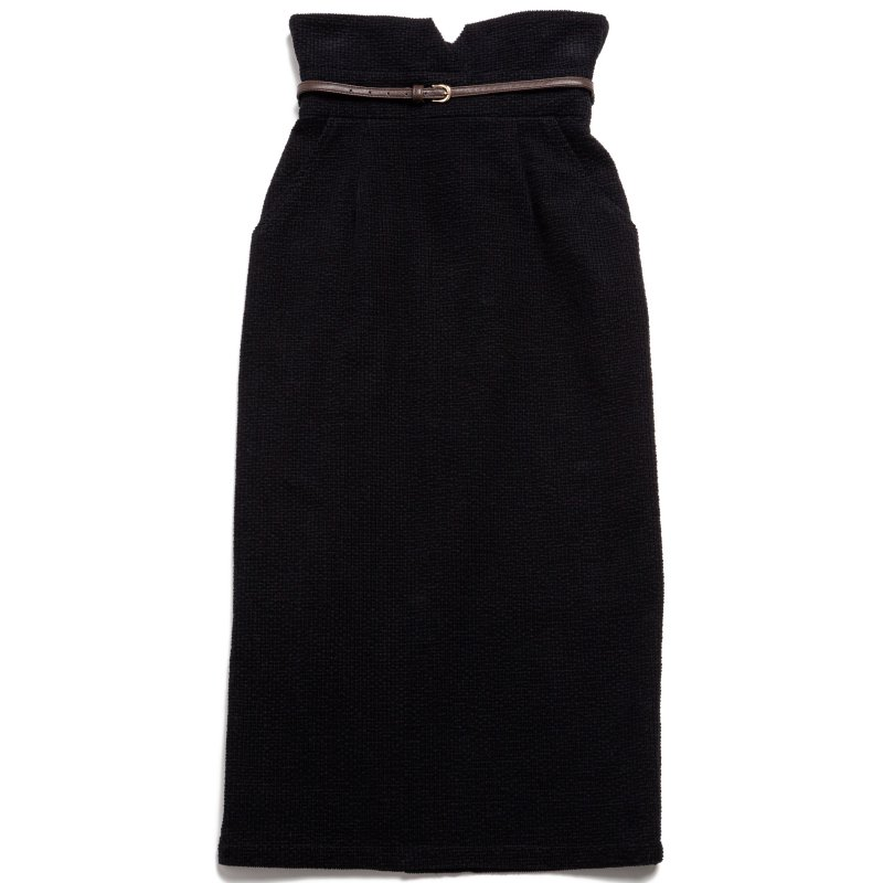 GYF TOKYO - THE HIGH-WAISTED SKIRT WITH BELT (BLACK)