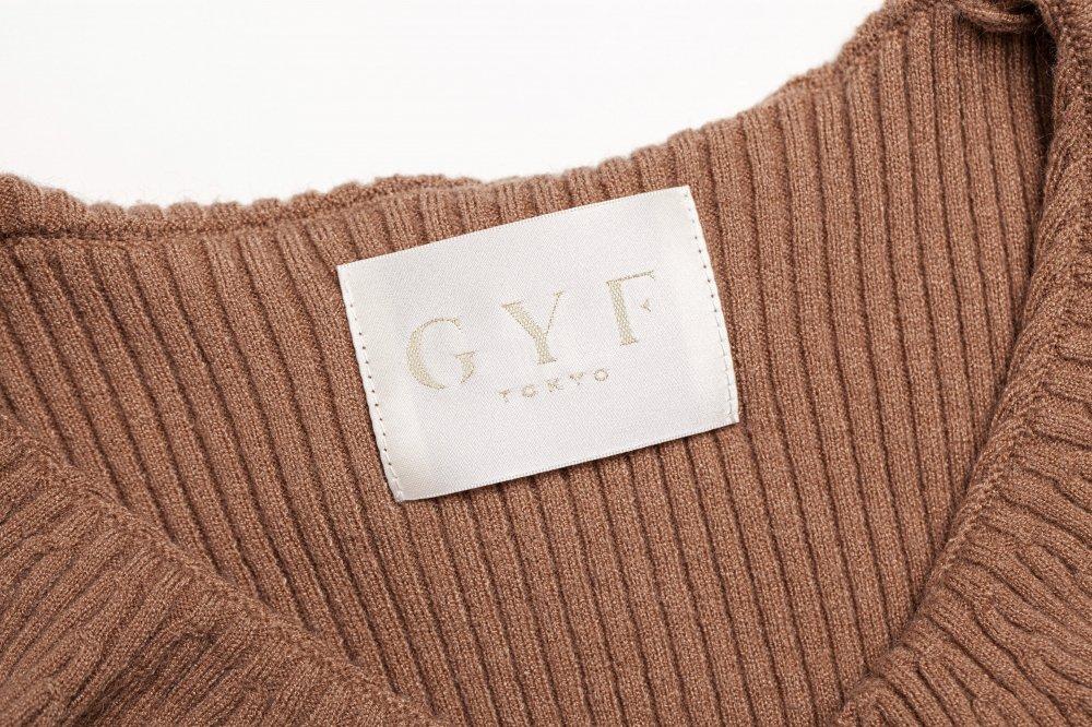 THE CROSSOVER RIBBED KNIT TOPS (BEIGE)