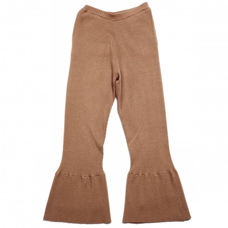 GYF TOKYO - THE RIBBED KNIT FLARED PANTS (BEIGE)