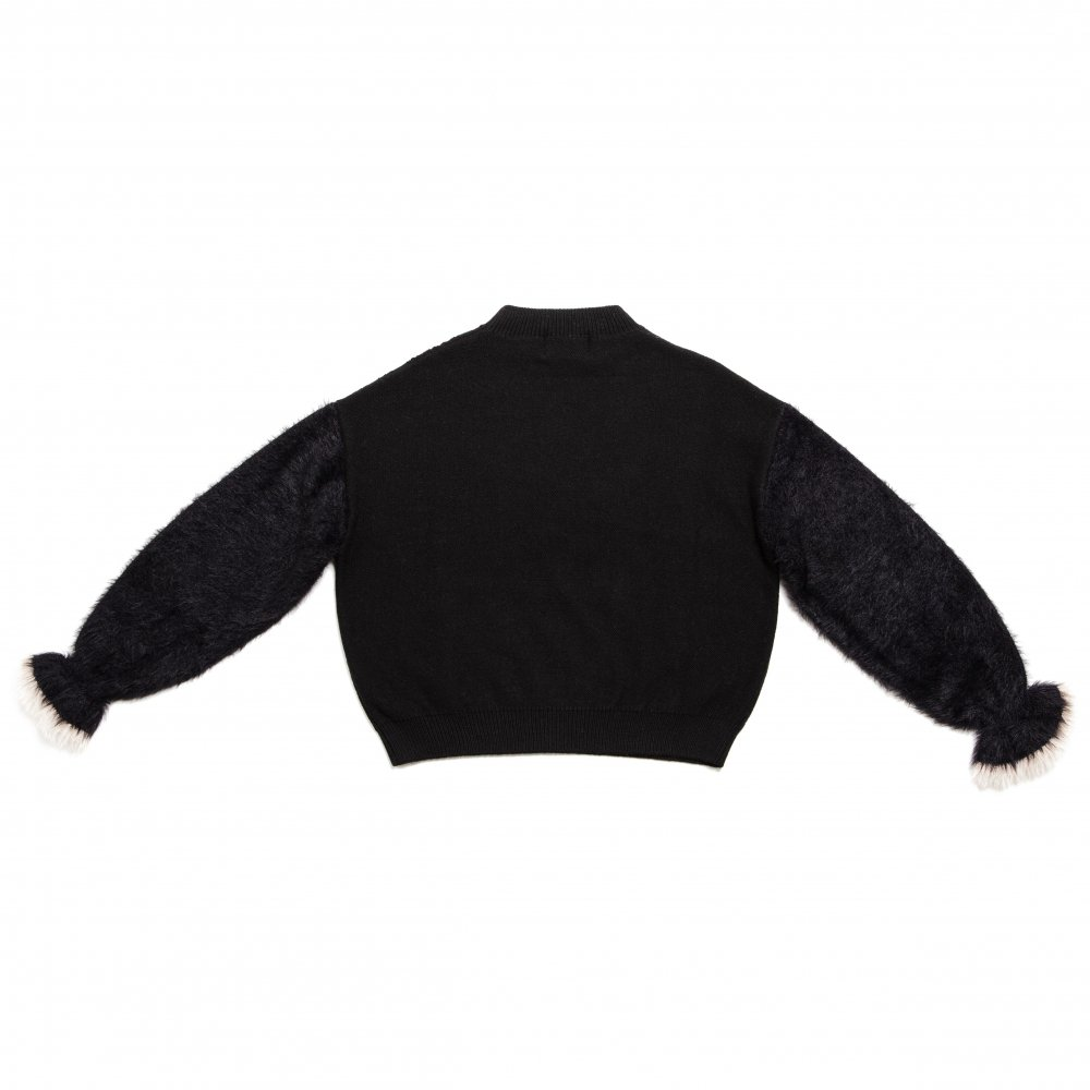 THE SHAGGY DOCKING ROUND NECK KNIT (BLACK)
