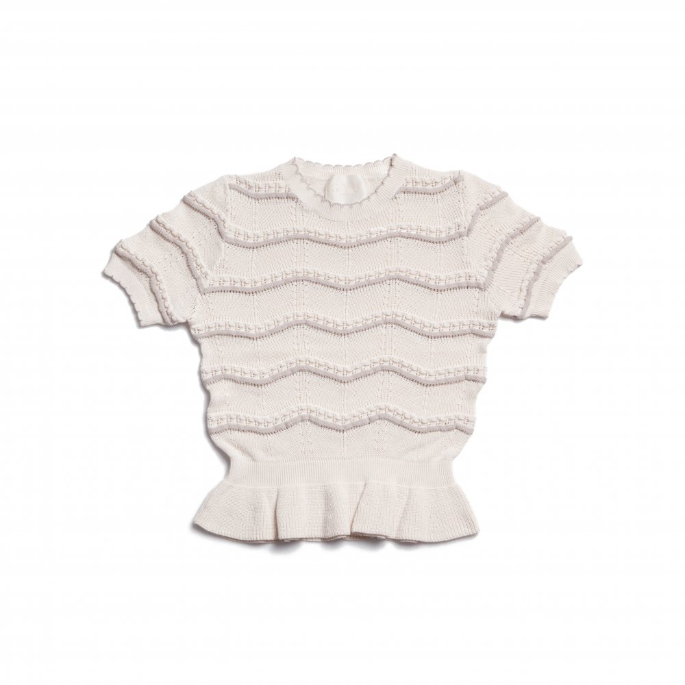 THE SPRING KNIT PEPLUM TOPS(IVORY)