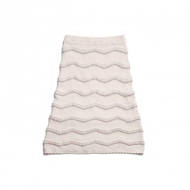 GYF TOKYO - THE SPRING KNIT STRAIGHT SKIRT(IVORY)