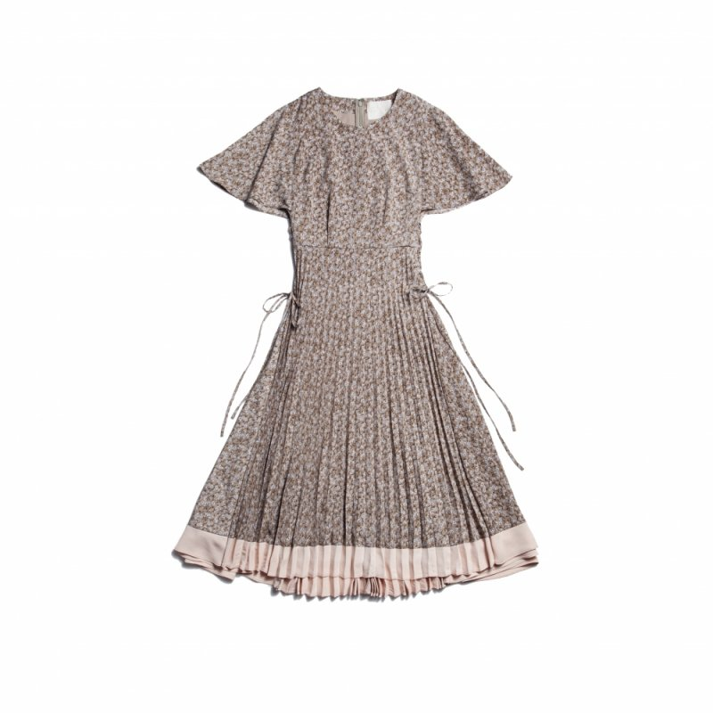 GYF TOKYO - THE FLOWER PATTERN SIDE LACE-UP DRESS(GREEN)