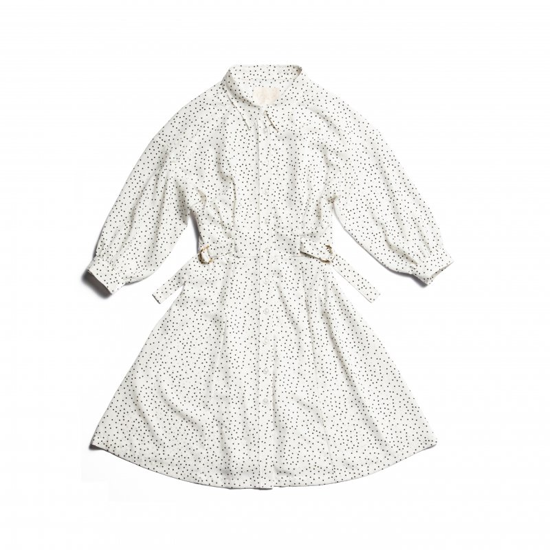 GYF TOKYO - THE SHIRT MINI DRESS(WHITE DOTS)