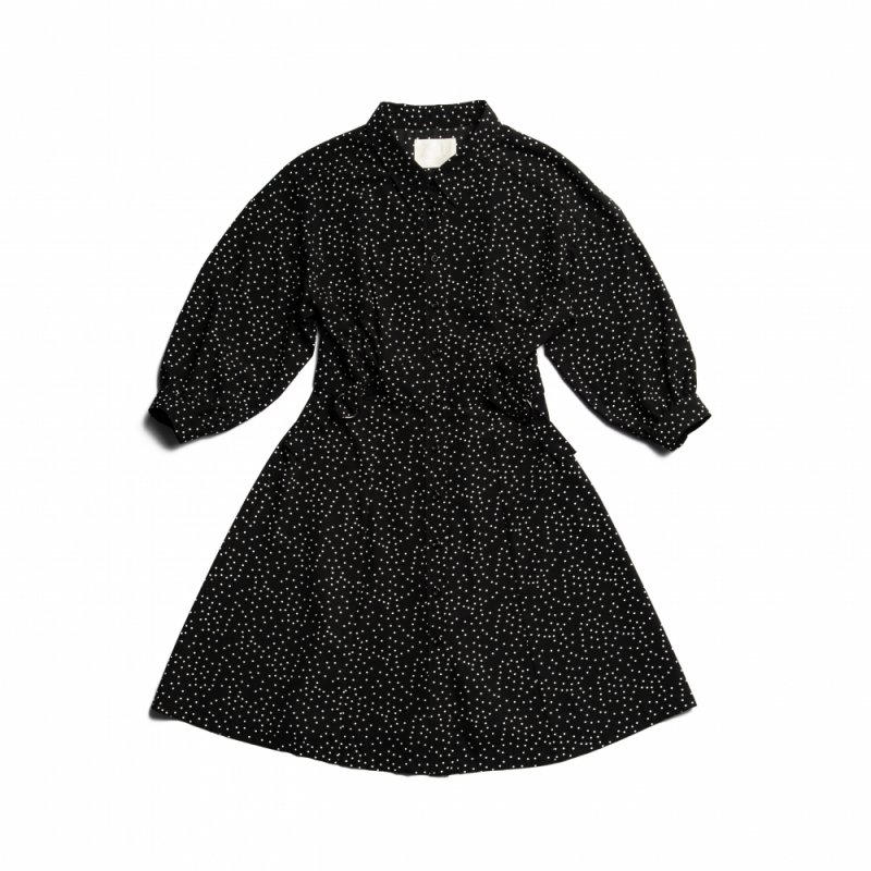 GYF TOKYO - THE SHIRT MINI DRESS(BLACK DOTS)