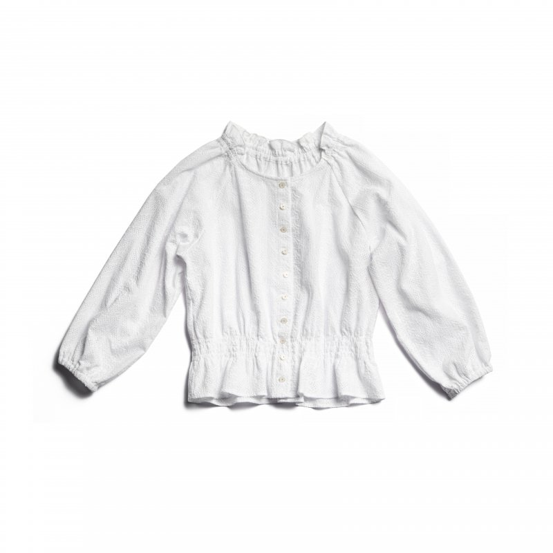 GYF TOKYO - THE COTTON LACE FRILL COLLAR BLOUSE(WHITE)