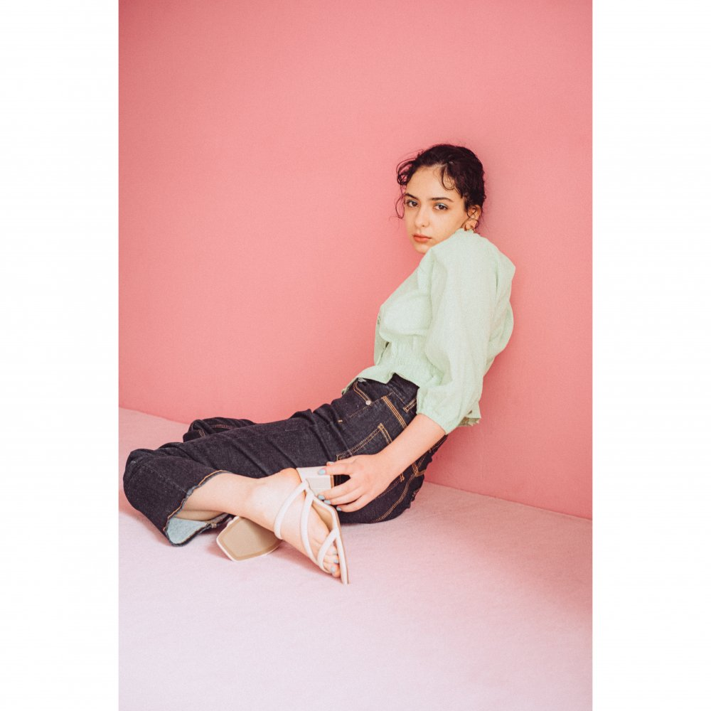 THE COTTON LACE FRILL COLLAR BLOUSE(MINT)<img class='new_mark_img2' src='https://img.shop-pro.jp/img/new/icons21.gif' style='border:none;display:inline;margin:0px;padding:0px;width:auto;' />