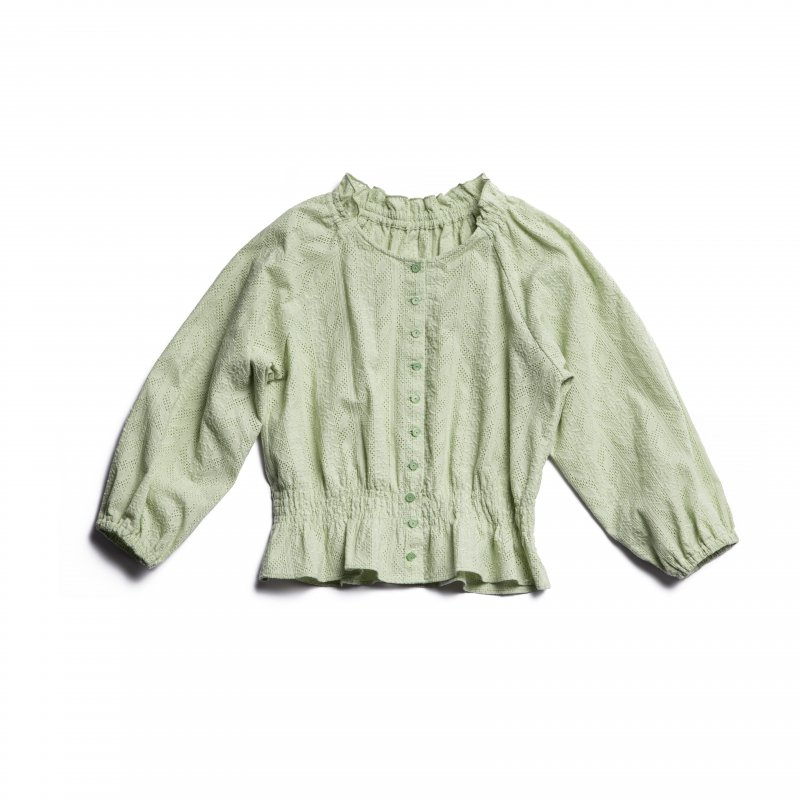 GYF TOKYO - THE COTTON LACE FRILL COLLAR BLOUSE(MINT)