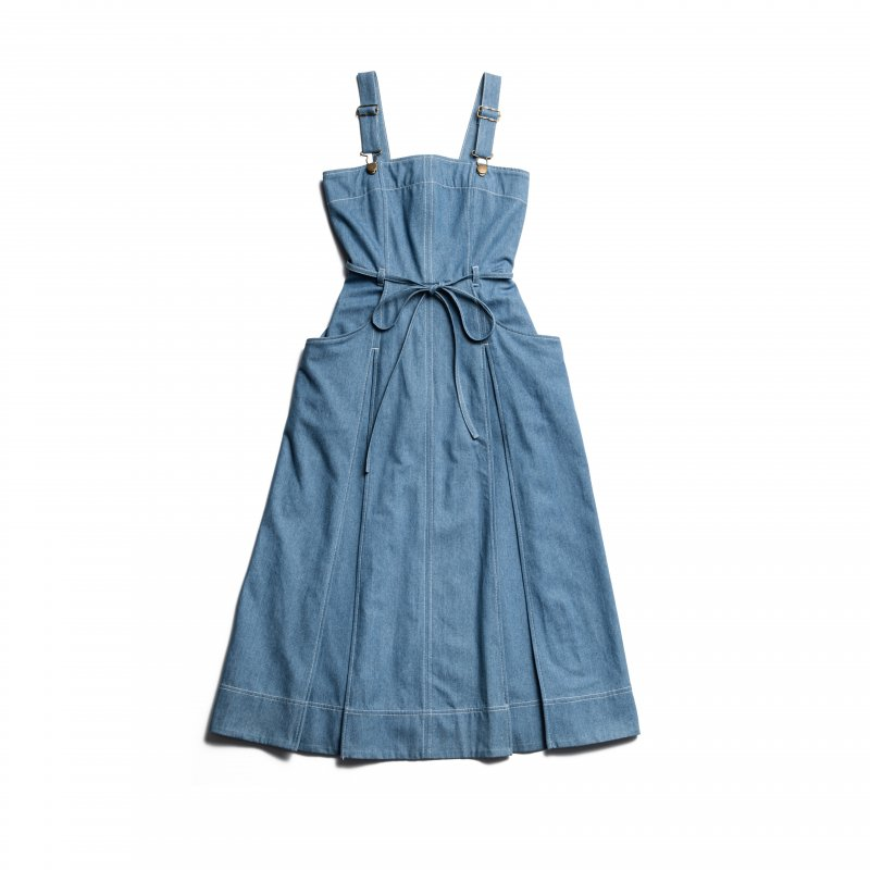 GYF TOKYO - THE DENIM JUMPER DRESS(DENIM BLUE)