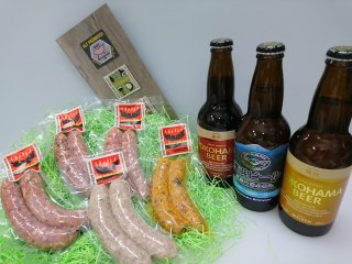 神奈川より愛をこめて『横浜ビール×ブーシェル』〜ドイツスタイルビール3種と神奈川食材を使ったソーセージ5種!                 ※20歳未満の方への酒類の販売は法律で禁止されています
