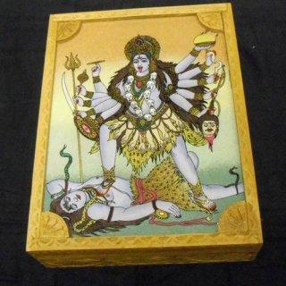 砂絵の箱 宝石やお経入れ 大 カーリー女神