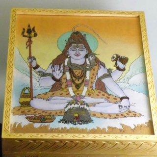 砂絵の箱 宝石やお経入れ シヴァ神