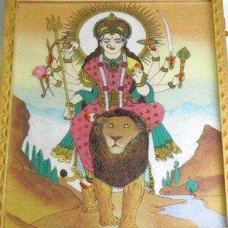 砂絵の箱 宝石やお経入れ ドゥルガー女神