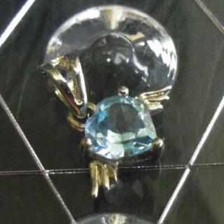 ペンダントトップ ハート 925銀 シルバー プチサイズのペンダント ブルートパーズ ペリドット