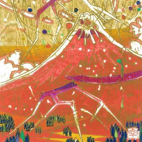 雷鳴赤富士(二)